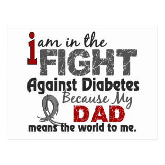 Dad Means World To Me Diabetes Postcard