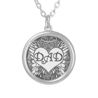 Dad |Memorial | Angel Wings Silver Plated Necklace