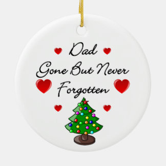 Dad Memorial Ceramic Christmas Tree Ornament