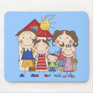 Dad, Mom, Big Sis, Middle Sis, Little Brother Mouse Pad