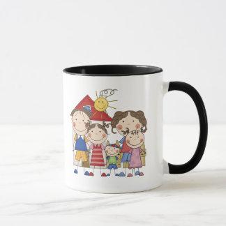 Dad, Mom, Big Sis, Middle Sis, Little Brother Mug