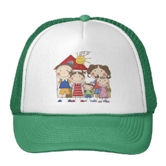 Dad, Mom, Big Sis, Middle Sis, Little Brother Trucker Hat