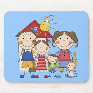 Dad, Mom, Big Sister, Middle Brother, Baby Sis Mouse Pad