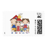 Dad, Mom, Big Sister, Middle Brother, Baby Sis Postage