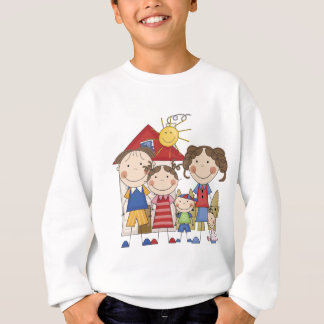 Dad, Mom, Big Sister, Middle Brother, Baby Sis Sweatshirt