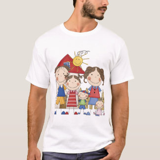 Dad, Mom, Big Sister, Middle Brother, Baby Sis T-Shirt