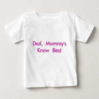 Dad,  Mommy's Know  Best T Shirts