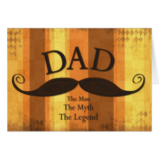 Dad Moustache Card Stripe