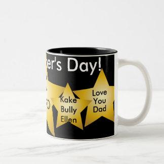 Dad My Hero!-Customize-Customize Two-Tone Coffee Mug