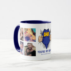 Dad My Hero Happy Father's Day Mug