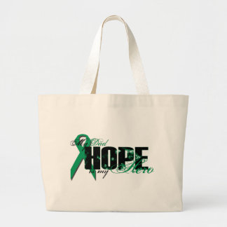 Dad My Hero - Kidney Cancer Hope Large Tote Bag