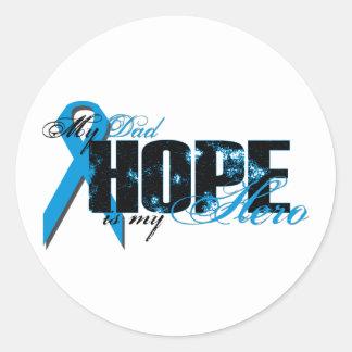Dad My Hero - Prostate Hope Classic Round Sticker