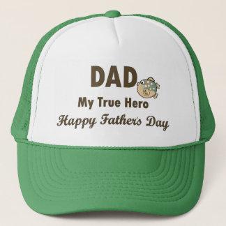 Dad My True Hero Happy Father's Day Trucker Hat
