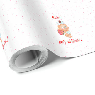 Dad : my Valentine ! Wrapping Paper