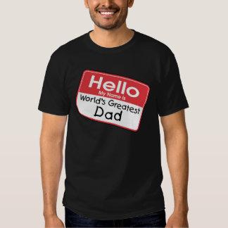 Dad Name Tag T-Shirt