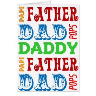 Dad Names Custom Father's Day Card