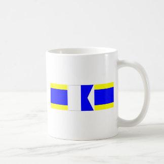 dad nautical flags classic white coffee mug