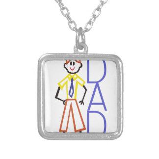 Dad Square Pendant Necklace
