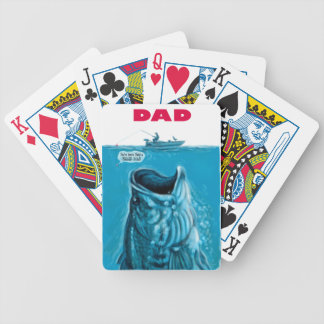 Dad Needs a Bigger Bass Fishing Boat Bicycle Playing Cards
