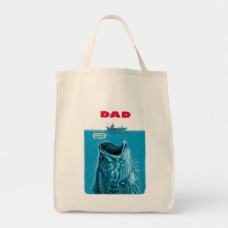 Dad Needs a Bigger Bass Fishing Boat Grocery Tote Bag