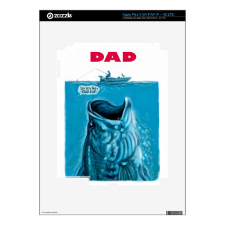 Dad Needs a Bigger Bass Fishing Boat iPad 3 Decal