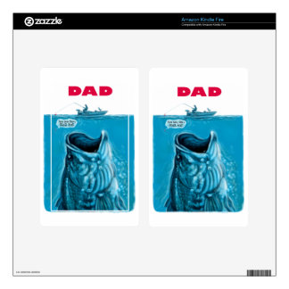 Dad Needs a Bigger Bass Fishing Boat Kindle Fire Skin