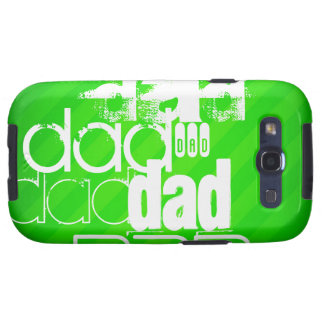 Dad; Neon Green Stripes Samsung Galaxy SIII Cover