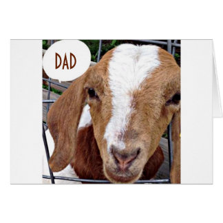 DAD-NO KIDDING AROUND ON YOUR BIRTHDAY SAYS GOAT CARD