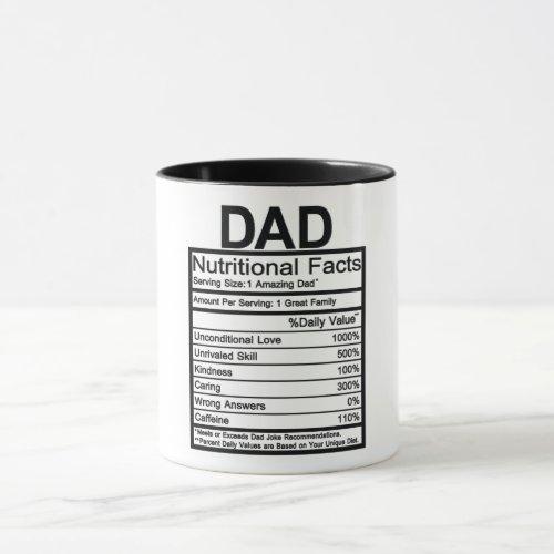 Dad Nutritional Facts Mug