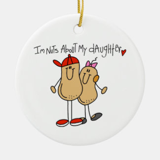 Dad - Nuts About My Daughter T-shirts and Gifts Ceramic Ornament