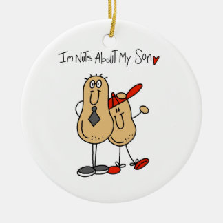 Dad - Nuts About My Son T-shirts and GiftsD Ceramic Ornament