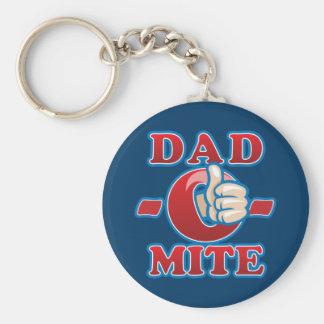 Dad-O-Mite Basic Round Button Keychain