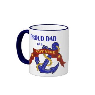 Dad of a Navy Nuke Ringer Mug