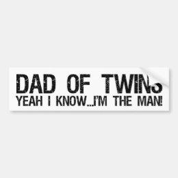 Dad of twins bumper sticker