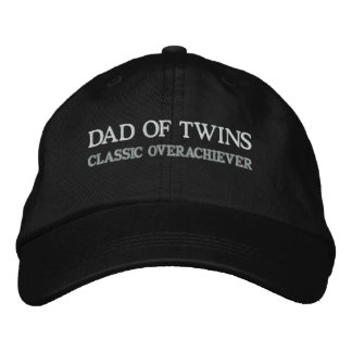 DAD OF TWINS EMBROIDERED BASEBALL CAP