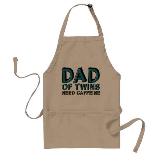 Dad of Twins NEED Caffeine Adult Apron