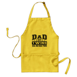 Dad Of Twins Real Man Make Twins Adult Apron