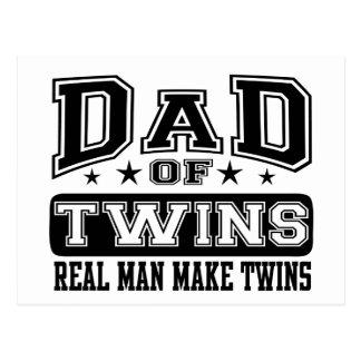 Dad Of Twins Real Man Make Twins Postcard