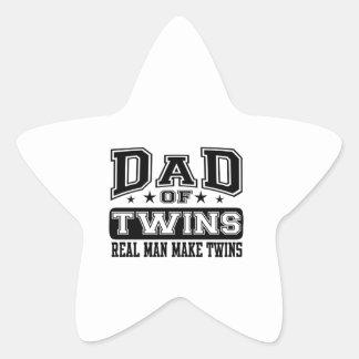 Dad Of Twins Real Man Make Twins Star Sticker