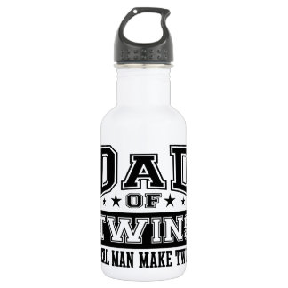 Dad Of Twins Real Man Make Twins Water Bottle