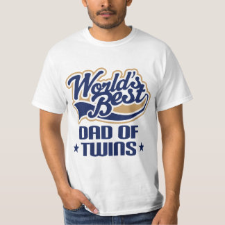 Dad Of Twins (Worlds Best) Father's Day Tee
