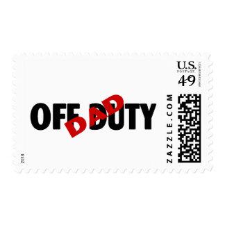 Dad Off Duty Blk Postage