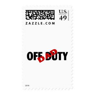 Dad Off Duty Blk Stamp