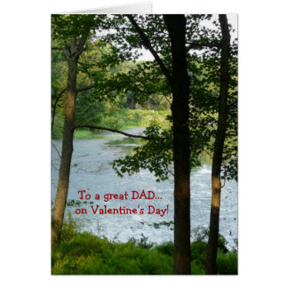 DAD on Valentine's Day! -Lake View Card