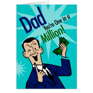 Dad One In Million Card