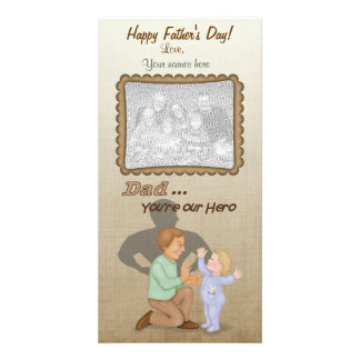 Dad Our Hero Photo Card Template