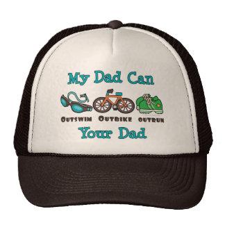 Dad Outswim Outbike Outrun Triathlon Cap Trucker Hats