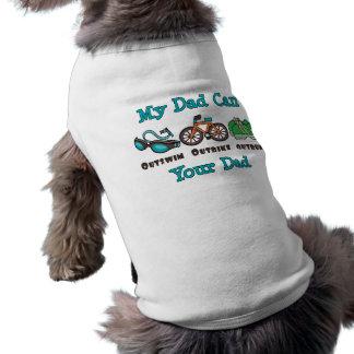 Dad Outswim Outbike Outrun Triathlon Dog T-shirt
