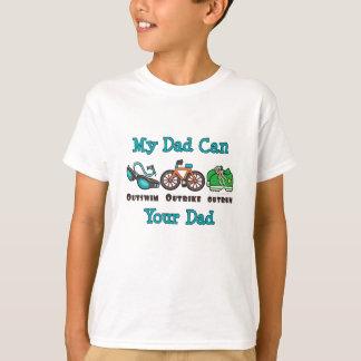 Dad Outswim Outbike Outrun Triathlon Kid T shirt