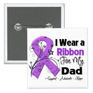 Dad - Pancreatic Cancer Ribbon Button